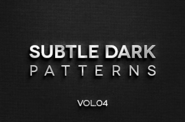 This is the fourth volume of 4 dark subtle texture patterns background to let you give depth to your dark themed...