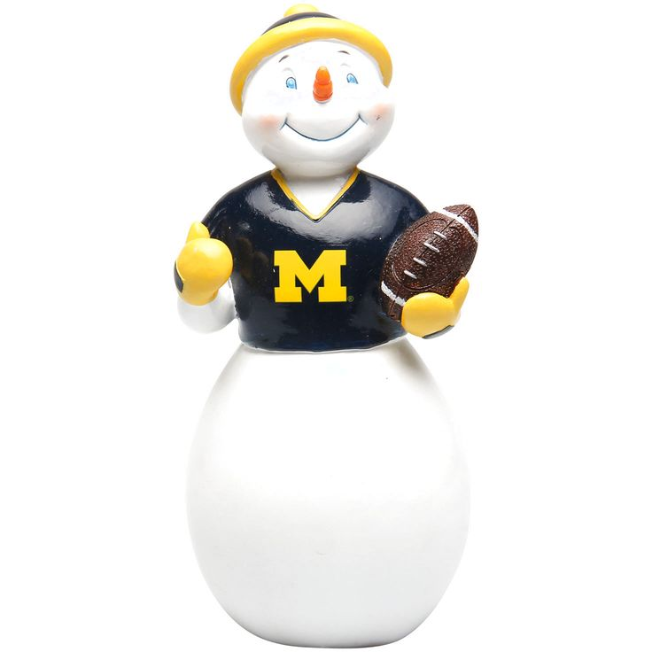 Michigan Wolverines Jack Frost Snowman Sit About - $15.99