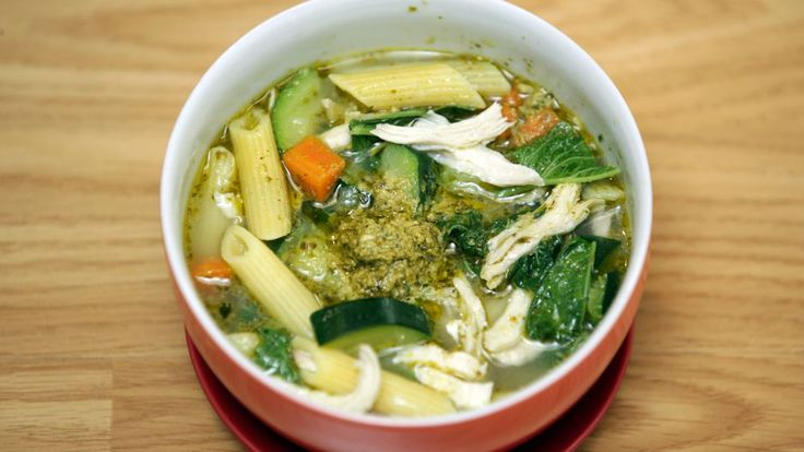 Chicken Penne Soup with Pesto | Asian Food Channel