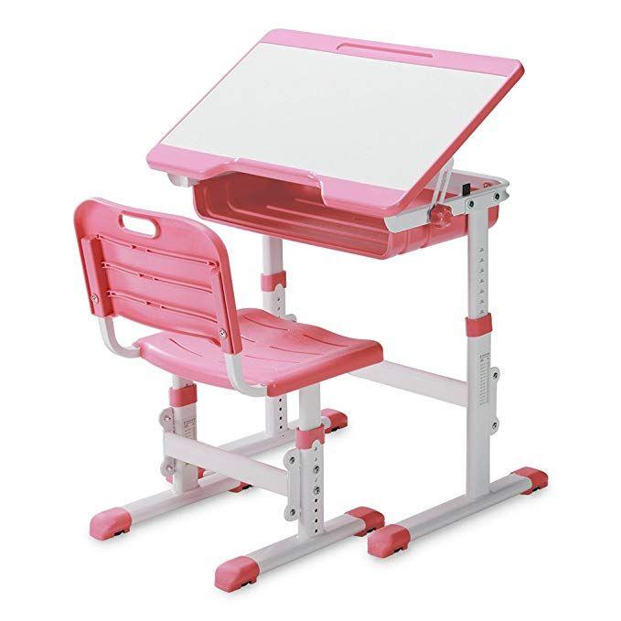 Slypnos Ergonomic Adjustable Children S Desk And Comfortable Chair Set Specially Designed For Children Age Childrens Desk Comfortable Chair Chair Set