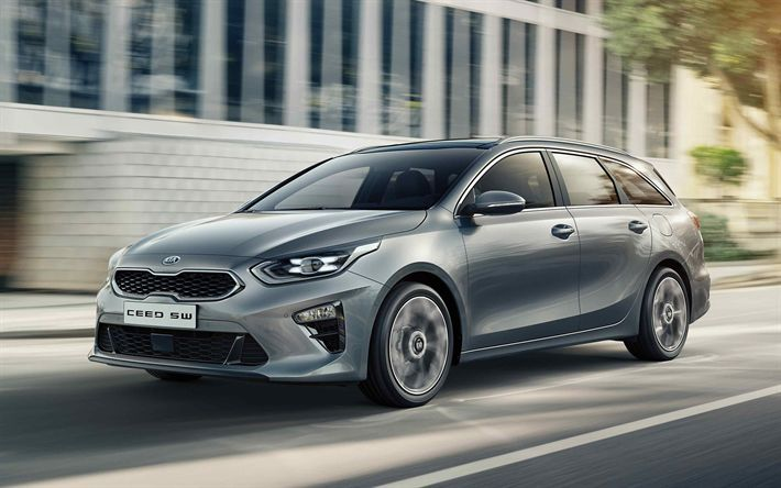 Download Wallpapers Kia Ceed Sportswagon 2019 4k Front View