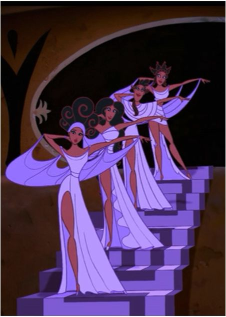 The Muses: the second best thing about this movie. The first one being Meg and her incredible sass.