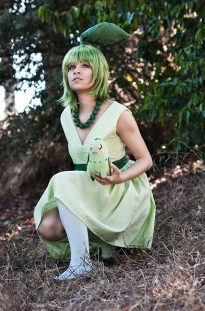 Pokemon - Chikorita cosplay :)