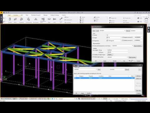 Trimble Tekla Structure 2016_Filter objects