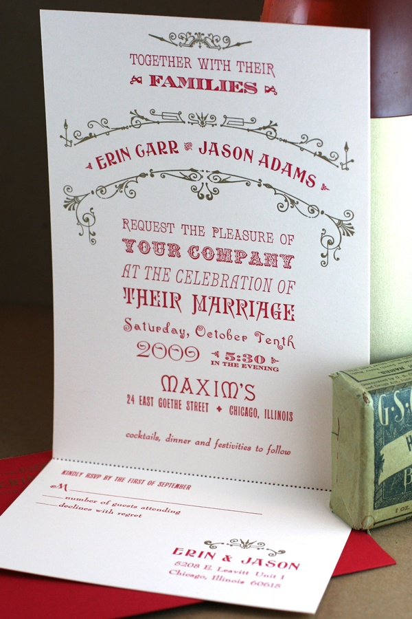 sample wedding invitation letter for uk visa%0A Custom Letterpress Wedding Invitations by Starshaped Press