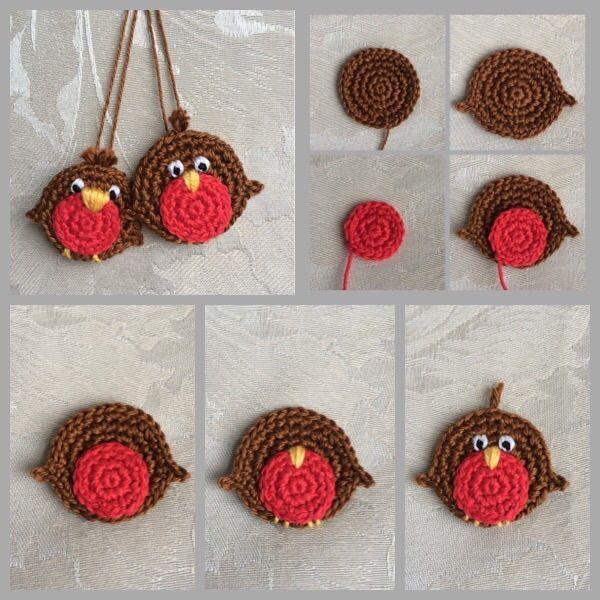 A little Robin - free crochet pattern at DoubleTrebleTrinkets