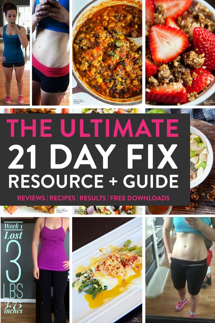 The ULTIMATE 21 Day Fix resource guide features fitness program reviews, 21 day fix results, recipes, and free downloads.