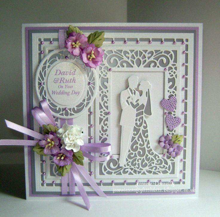 Wedding Day card using dies from Creative Expressions / Sue Wilson Australian Collection _ Background, Grace, Camellia Complete Petals & Leaves and Special Occasion Collection - The Happy Couple.