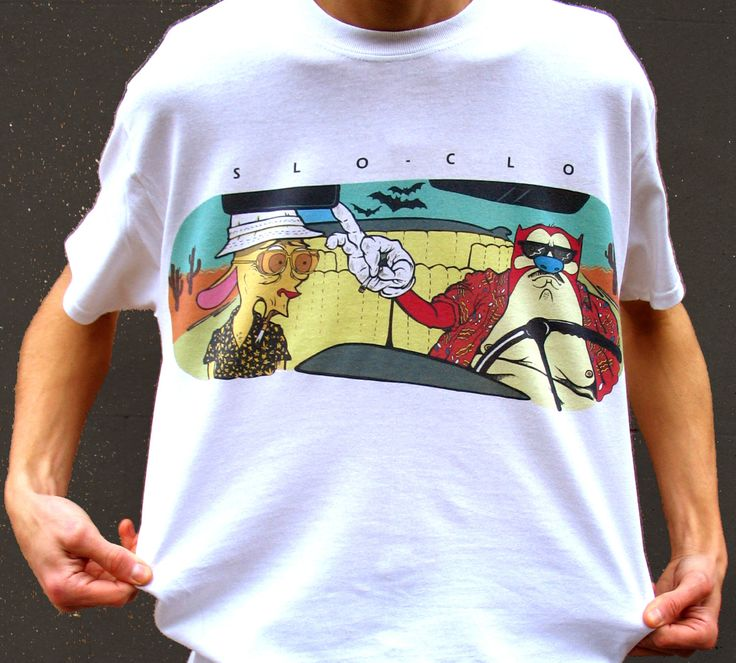 Ren and Stimpy T-Shirt Fear and Loathing T-shirt 90s Cartoon t-shirt retro cartoon tee Hunter S Thompson Shirt Weird T-Shirt (20.00 GBP) by SloClo