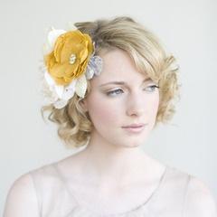 Silk flower hairstyle