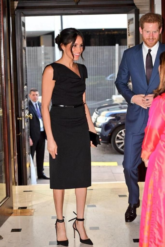 Black Halo Jackie O Belted Dress Meghan Markle Dress Like A Duchess Meghan Markle Dress Meghan Markle Style Black Halo Jackie O Dress