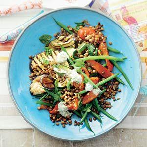 Recept - Linzensalade met gegrilde groenten - Allerhande
