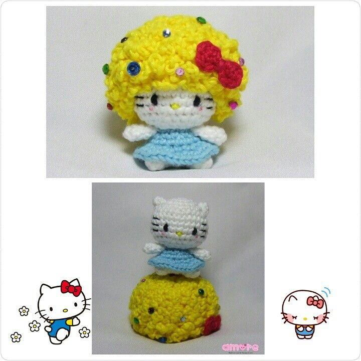 Knitting Games Hello Kitty : Best amigurumi characters from animes animations