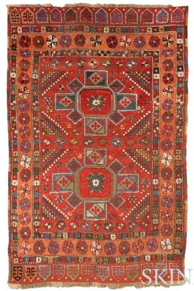 Lot 102. Konya Rug, Central Anatolia, 19th century, 6 ft. 8 in. x 4 ft. 2 in.