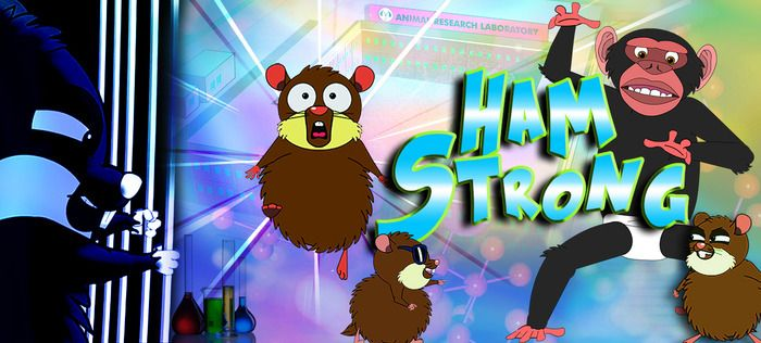 Lab animals never fear, Hamstrong is here!
