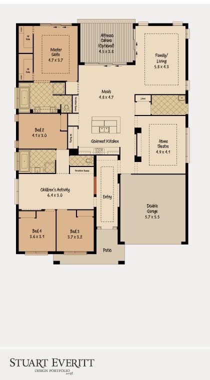 McDonald Jones Homes - The Chesterfield Collection - Floorplan #Floorplans #luxuryhome