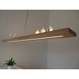 Hängelampe Holz Buche LED Leuchte mit Dimmfunktion