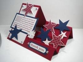 #patriotic card. By Lisa Flemming. For My handmade greeting cards visit me at My Personal blog: http://stampingwithbibiana.blogspot.com/