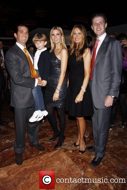 Donald Trump Jr., Barron Trump, Ivanka Trump, Melania Trump, Eric Trump