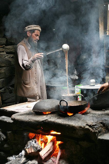 9. A man from KPK probably brewing his tenth pot of tea.
