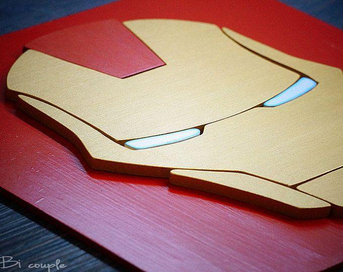 Discount 50% on shipping,Superhero Ironman, Wall art, Kids bedroom wall art