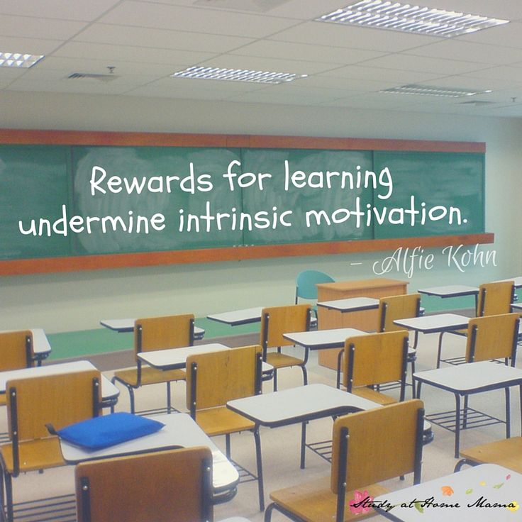 Rewards for learning undermine intrinsic motivation - Alfie Kohn. Check out our 6 tips for raising internally motivated children!