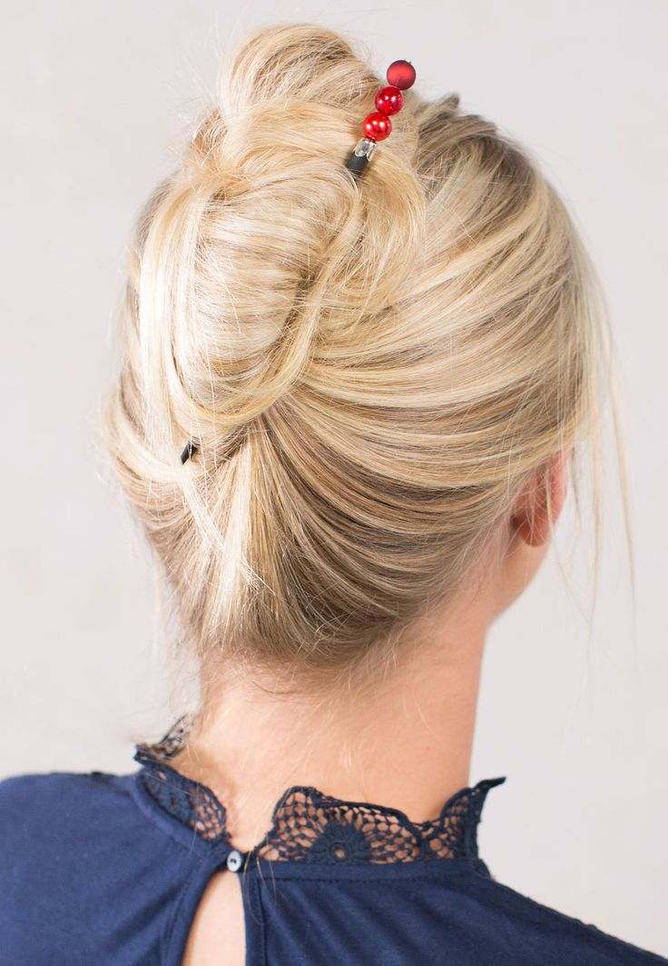 24 Best Hair Stick Styles Images On Pinterest