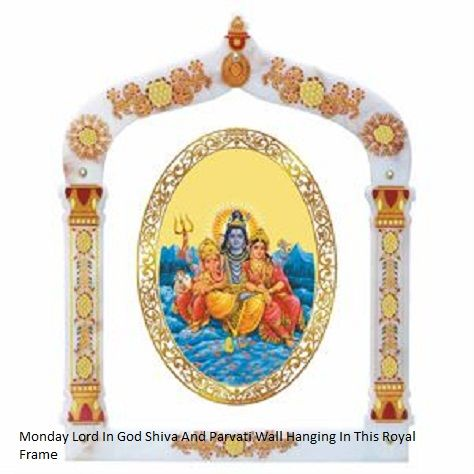The God SHiva parivar royal wall hanging in this hand painted frame from Diviniti. Embellished in this royal color and outlook these help spread outright auspiciousness all around. link: http://diviniti.co.in/en/shiv-parivar-statue-2