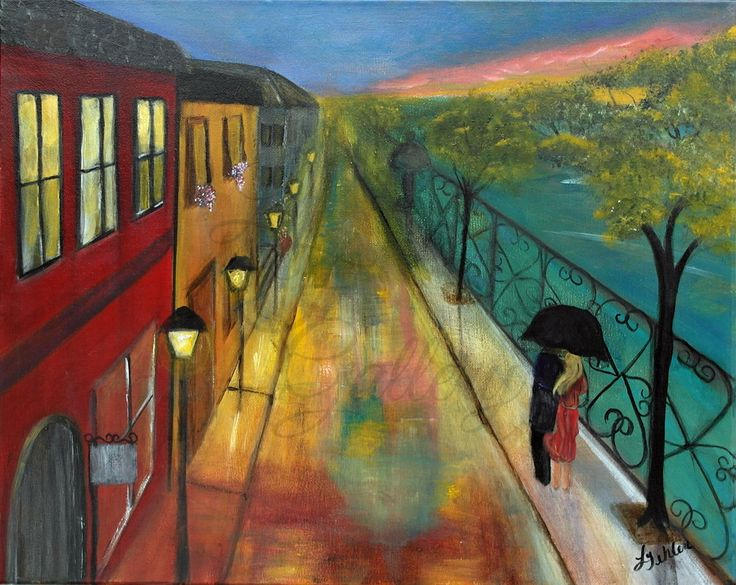 Romantic Painting Love Painting Original by ...