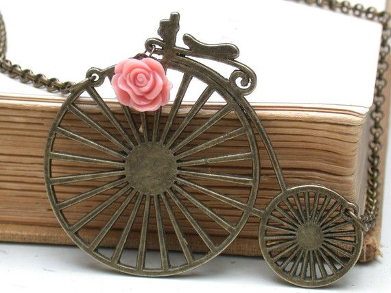Bicycle Necklace- For vintage style lovers - Old Style Bike Necklace.