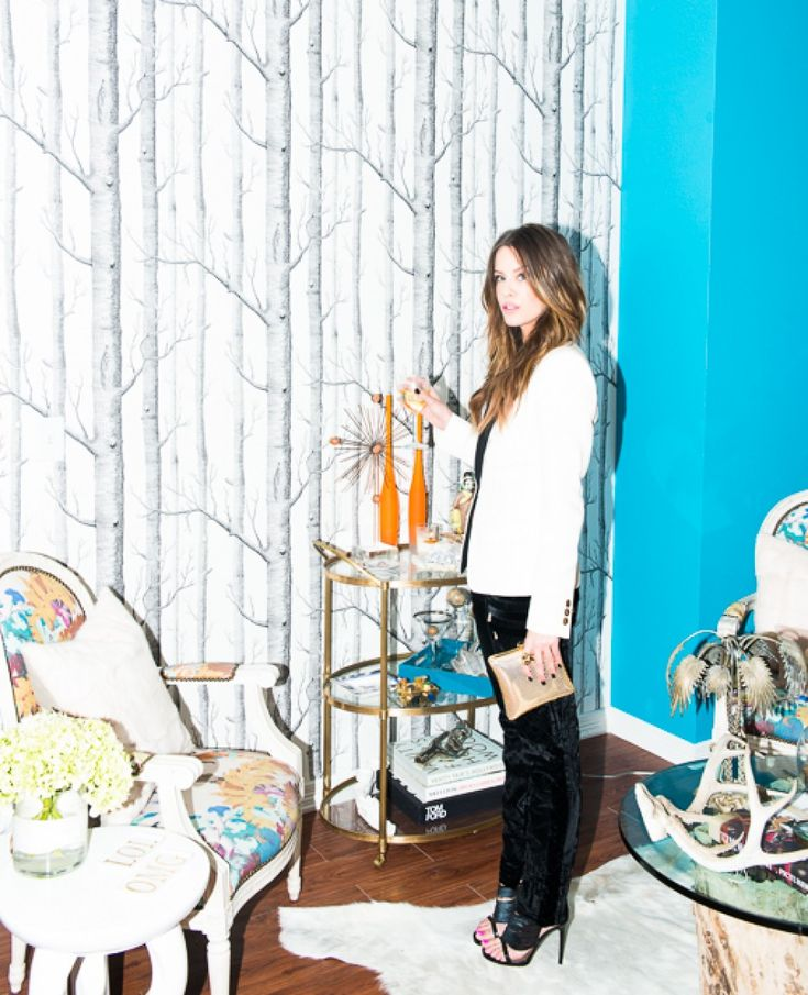 Courtney Kerr for The Coveteur x The Outnet #TheOutnetInTX that wallpaper!