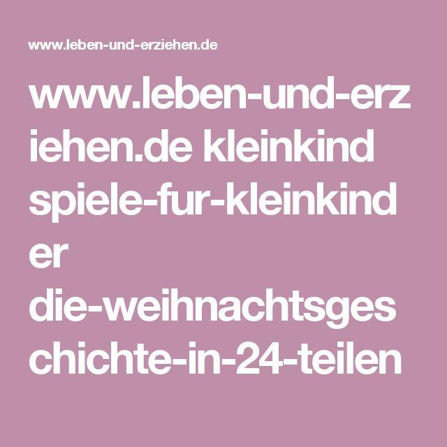 www.leben-und-erziehen.de kleinkind spiele-fur-kleinkinder die-weihnachtsgeschichte-in-24-teilen