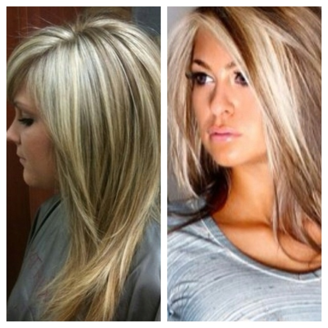 I want the haircut on the left and the color on the right for my next hair appt :)