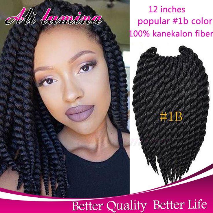 Marley Gehaakte Vlecht Haarverlenging 12 ''80g Havana Mambo Gehaakte Senegalese Twist Synthetische Doos Vlechten Haar crotchet vlechten