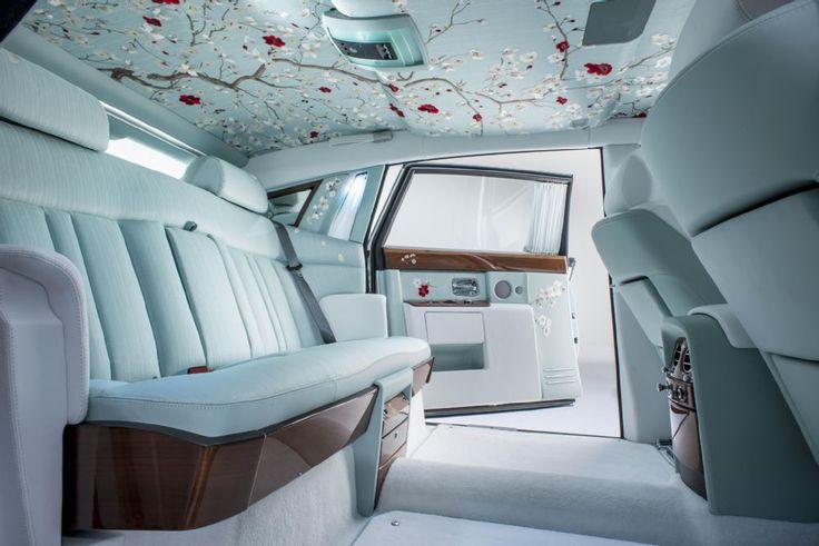 Rolls Royce Phantom Serenity rear interior details
