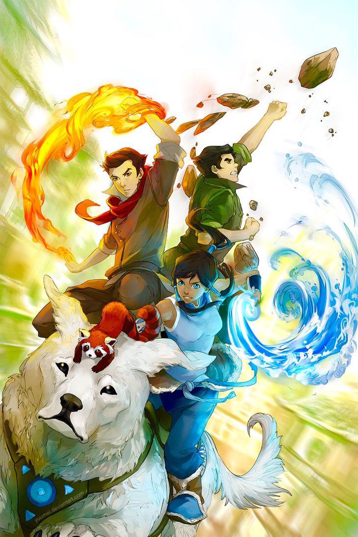 I love this picture! It's my wallpaper! Legend of korra