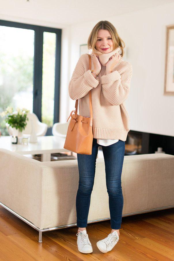 Zara Knit, Acne Studios Jeans, Mansur Gavriel Bag, Adidas Stan Smiths, Equipement Top, Acne Studios Jeans