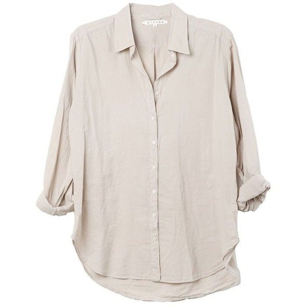 Beau Zinc Shirt ($180) ❤ liked on Polyvore featuring tops, shirts, blouses, cotton button down shirts, button up shirts, loose fit tops, shirt tops and loose fitting tops