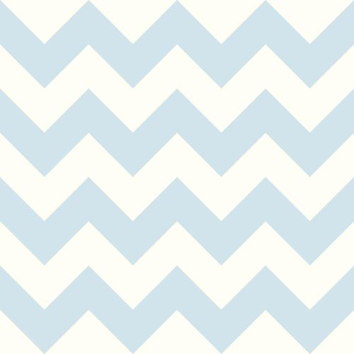 Cool Kids Snow and Sky Blue Chevron Wallpaper