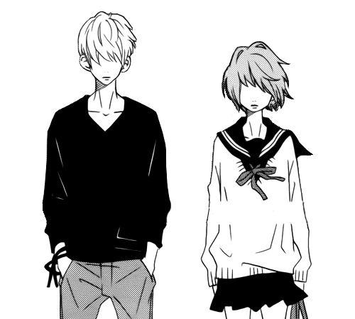 Boy, Cute, Girl, Kawaii, Manga, School Uniform, Shoujo -3744