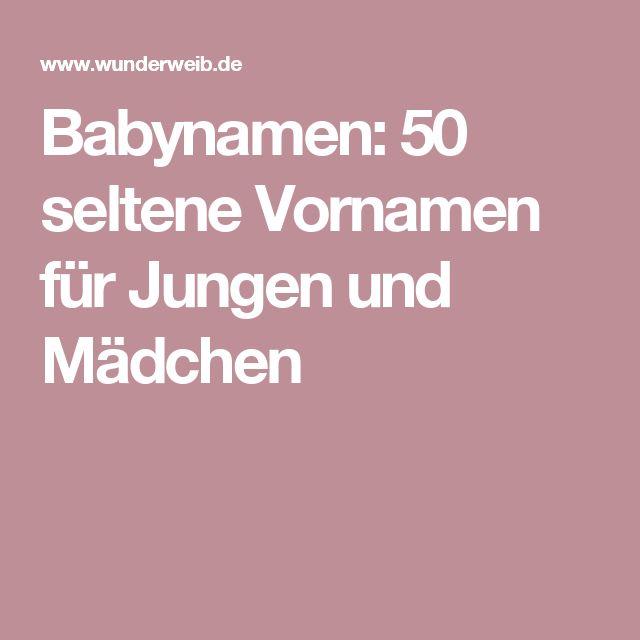 Babynamen: 50 seltene Vornamen für Jungen und Mädchen