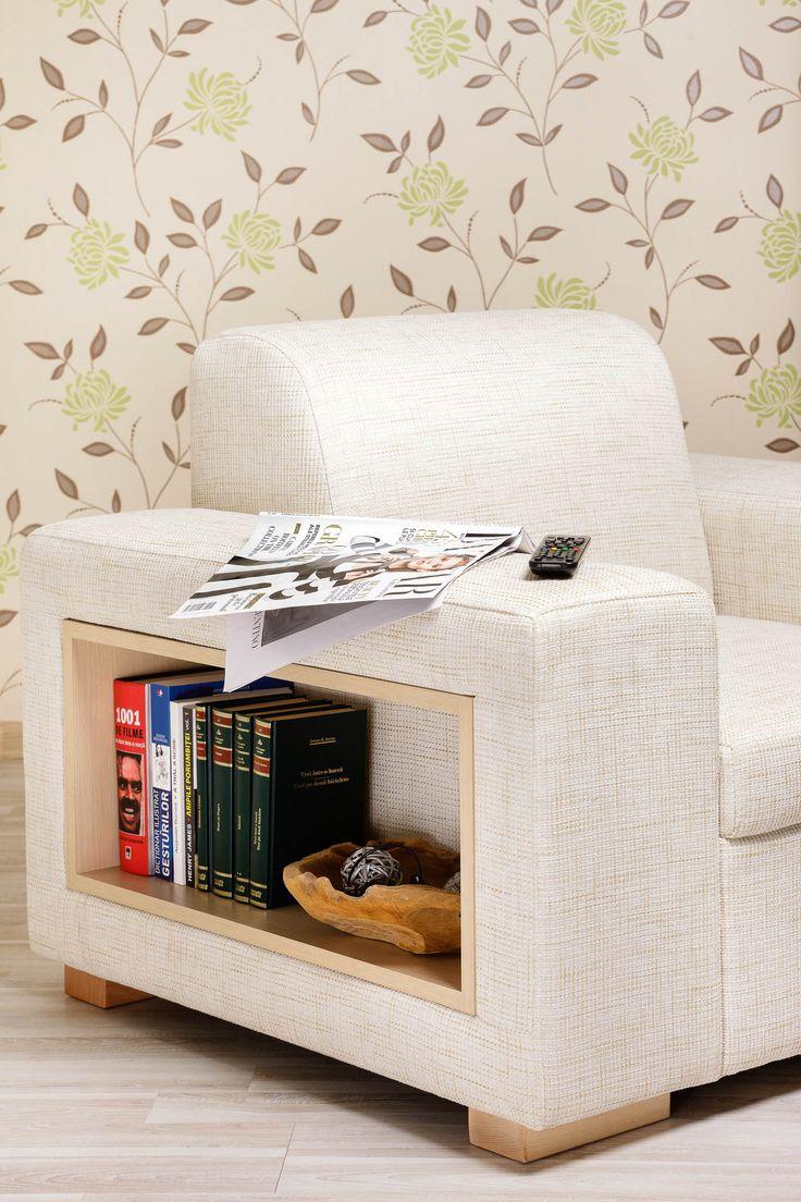 A-maze Armchair / Colour: Snow #comfort #armchair #storage #shelf #cozy #home #interiordesign #inspiration