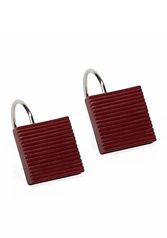 Evan Stripe Shower Curtain Hooks
