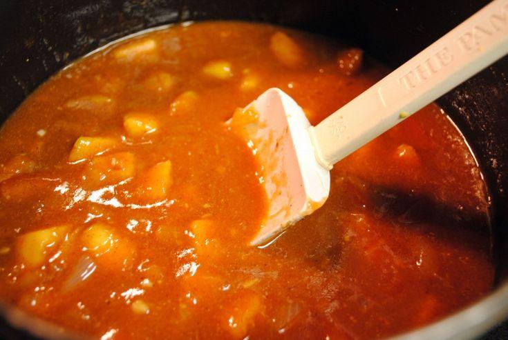 Homemade Peach BBQ Sauce ~ #PeachWeek