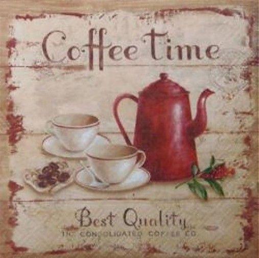 Servítka Čas na kávu