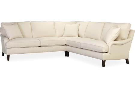 Sectional from Lee Industries - looks very comfortable, fluffy, inviting, but is classy / looks fancy in a Houzz room