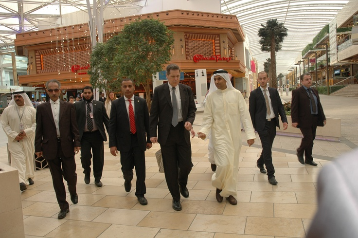 His Highness after visiting the Cheese Cake Factory Restaurant for checking the metering and piping system