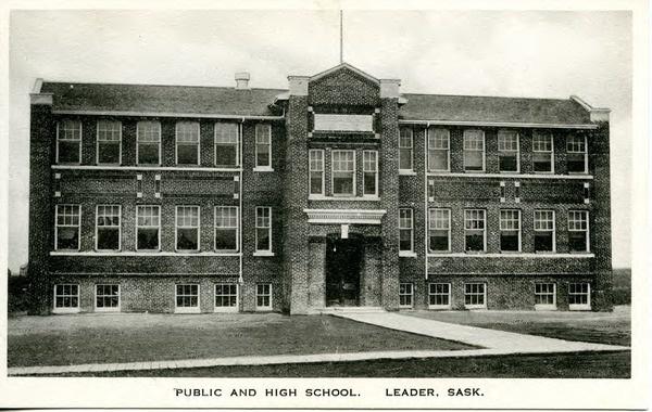 Public and High School. Leader, Sask. | saskhistoryonline.ca