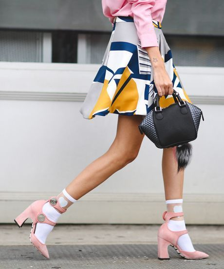 Image result for layering socks and heels in 2017