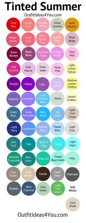 Tinted Summer Color Palette (Light Summer)